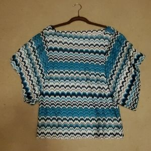 Bebe Chevron blouse small